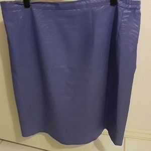Lavender two piece suit. Skirt has split in the